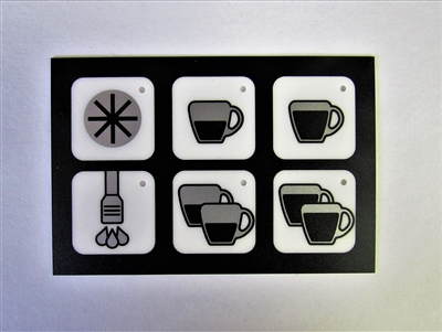 6 Button Touch Panel Display Sticker
