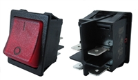 Rectangular Red On-Off Switch Bright Button Hole 30x22mm
