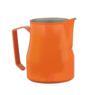 Europa Milk Pitcher Stainless Steel Orange Professional 17 Oz.