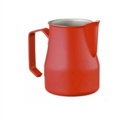 Europa Milk Pitcher Stainless Steel Red Professional 12 oz.