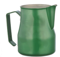 Europa Milk Pitcher Stainless Steel Green Professional 12 oz.