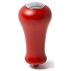 Red Wood Handle Tamper with Chrome Plug
