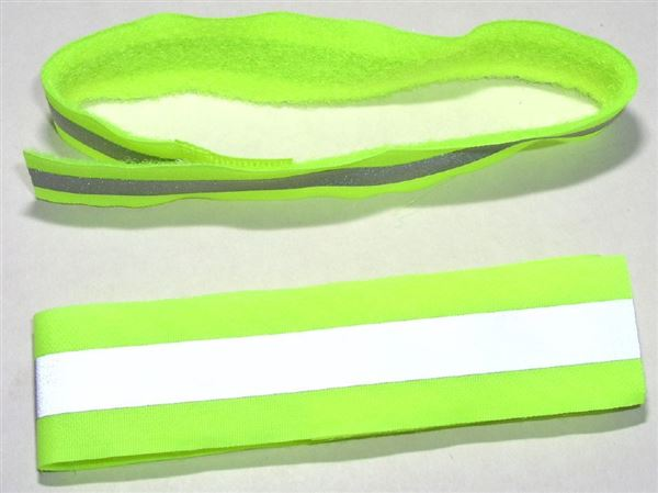Reflective Safety Strap For Arm Leg Velcro Band One Pair
