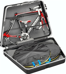 BLACK Team Bike Case Bicycle Transport travel with wheels