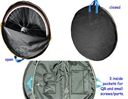 B&W Wheel Guard w/ light padding, Bicycle Wheel bag travel cover