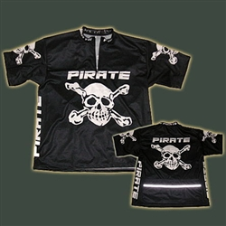 Pirate Black BIG Shortsleeve cycling  Jersey skull bones M-XXXXXXL