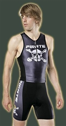 Pirate cycling Triathlon shorts,black skull & bones
