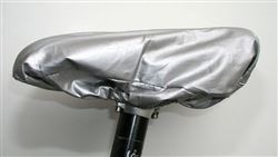Universal Bike Saddle Cover Seat protector Silver/Black Reversible New