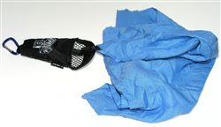 Ultra Microfiber Camp Towel Chamois in mesh bag, blue