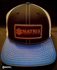 MATRIX ROYAL BLUE, BLACK & WHITE WITH LEATHER PATCH LOGO HAT