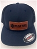MATRIX FLEXFIT LEATHER PATCH LOGO HAT