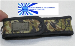 Camo Ultrafire LED Flashlight Holster - Clip & Loop, Velcro - Top Quality - Upgraded /Holster