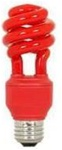 Red Light Bulb, Red CFL Spiral Compact Fluorescent - 13 Watts - Great for parties, dorms, garages, etc!