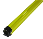 Canary Yellow Fluorescent Tube Colored Safety Sleeve and Tube Guard.  A cheap way to color your life!