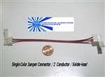 NEW! Flexible LED Strip Solderless Jumper Connector (2 wire) - Single Color Ribbon - 1 piece/ea