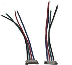 RGB Flexible LED Strip Solderless Power Connector - RGB Color Ribbon (4 wire)