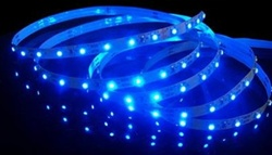 Blue LED Flexible Ribbon Strips | LED Ribbon Tape - Low power consumption, infinite uses.  We import our LED Flexible Ribbon spools and Flex Ribbon Tape ourselves to ensure a Quality product and the best possible price to you, our customer!