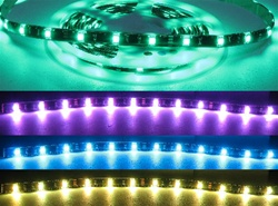 RGB LED Flexible Ribbon Strips | LED Ribbon Tape - 12 volt DC, (150LED) Tri-Color/RGB, 5 Meter
