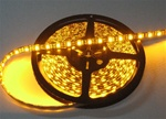 Amber/Yellow LED Flex Strips -12vdc, IP68 WP, Double Density, White, High Output - 5M Spool