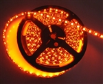 Burnt Orange LED Flex Strips -12vdc, Water Resistant, Double Density, Orange, High Output - 5M Spool