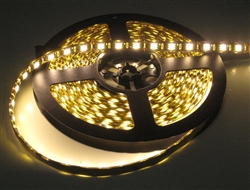 Super Warm White 5050 LED Flex Strips -12vdc, WP, 2700K Super Warm, Double Density, White, High Output - 5M Spool