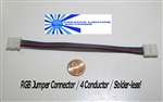 NEW! RGB Flexible LED Strip Solderless Jumper Connector (4 wire) - Multi Color/RGB LED Ribbon