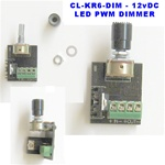 LED Dimmer - 12v Rotary PWM LED Dimmer - Click On/Off, 6 Amps -