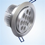 LED 15W Down Light Fixture, 12 High power LEDs, 85V-265V, Day White