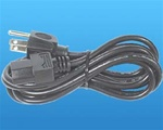 6FT IEC 3 Wire Power Cord - Power Supply Cord