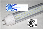 LED SMD T10 Tube Light - 750 Lumens, 2 foot, Natural White, 10 Watt, 160 LED, 90V-277VAC, Clear Lens, Commercial Grade - UL Approved!