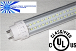 LED SMD T10 Tube Light - 1750 Lumens, 4 foot, Warm White, 18 Watt, 290 LED, 90V-277VAC, Clear Lens, Commercial Grade - UL Approved!