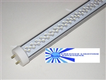 T8 LED Tube Light - 700 Lumens, 18 inch, Cool White, 7 Watt, 120 LED, 90-277VAC, Clear Lens