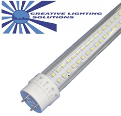 LED SMD T8/T10/T12 Tube Light - 1800 Lumens, 4 foot, Day White, 18 Watt, 290 LED, 90V-277VAC, Clear Lens, Commercial Grade - CE/ROHS