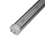 LED SMD T8 Tube Light - 2000 Lumens, 5 foot, Day White, 19 Watt, 360 LED, 90V-277VAC, Clear Lens, Commercial Grade