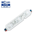 RGB Waterproof LED Module - 12vDC 3 5050 LEDs, White Case