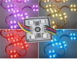 RGB Waterproof LED Module - 12vDC 4 5050 LEDs, Metal Case