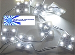 White Waterproof LED Module - 12vDC 4 5050 SMD LEDs, White Case