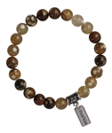 BE FEARLESS - Fire Agate Healing Crystal Bracelet - zen jewelz