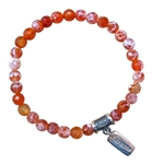 Fire Agate ELIMINATE CRAVINGS Healing Crystal Bracelet - zen jewelz
