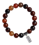 EMOTIONAL HEALING - Orange Agate Healing Crystal Bracelet - zen jewelz