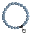 zen jewelz - SPIRITUAL AWARENESS - Angelite Healing Crystal Bracelet