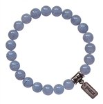 EXPRESS YOURSELF - Blue Lace Agate Healing Crystal Stretch Bracelet - zen jewelz