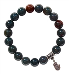 BE CREATIVE - Bloodstone Healing Crystal Bracelet - zen jewelz