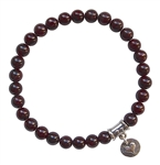 RADIATE LOVE - Red Garnet Healing Crystal Bracelet - zen jewelz