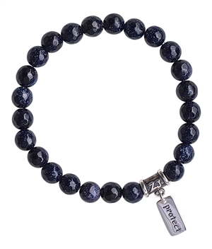WISH - Blue Goldstone Healing Crystal Bracelet - zen jewelz