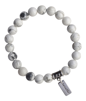 CALMING MOMENTS - Howlite Healing Crystal Bracelet - zen jewelz