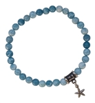 zen jewelz - GO WITH THE FLOW - Larimar Healing Crystal Bracelet