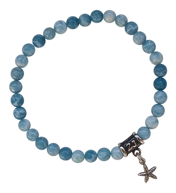 zen jewelz - GO WITH THE FLOW - Larimar Healing Bracelet