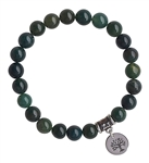 ALL IS WELL - Moss Agate Healing Crystal Bracelet - zen jewelz