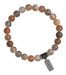 PEACE - Moonstone Healing Crystal Bracelet - zen jewelz